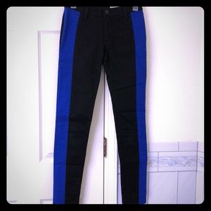 Rag & Bone black/blue skinny pants